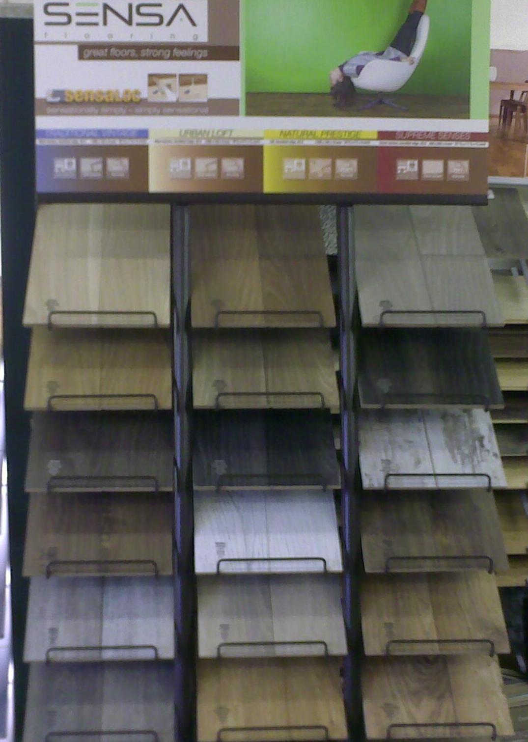 Sensa laminate display stand uk flooring blog for Laminate flooring displays